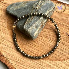 Pyrite & Silver Beaded Bracelet